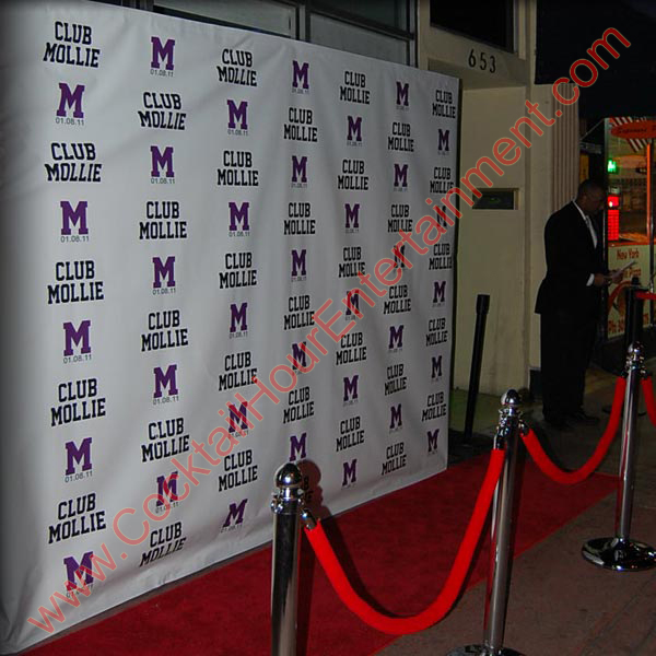 miami photo booth with custom banner